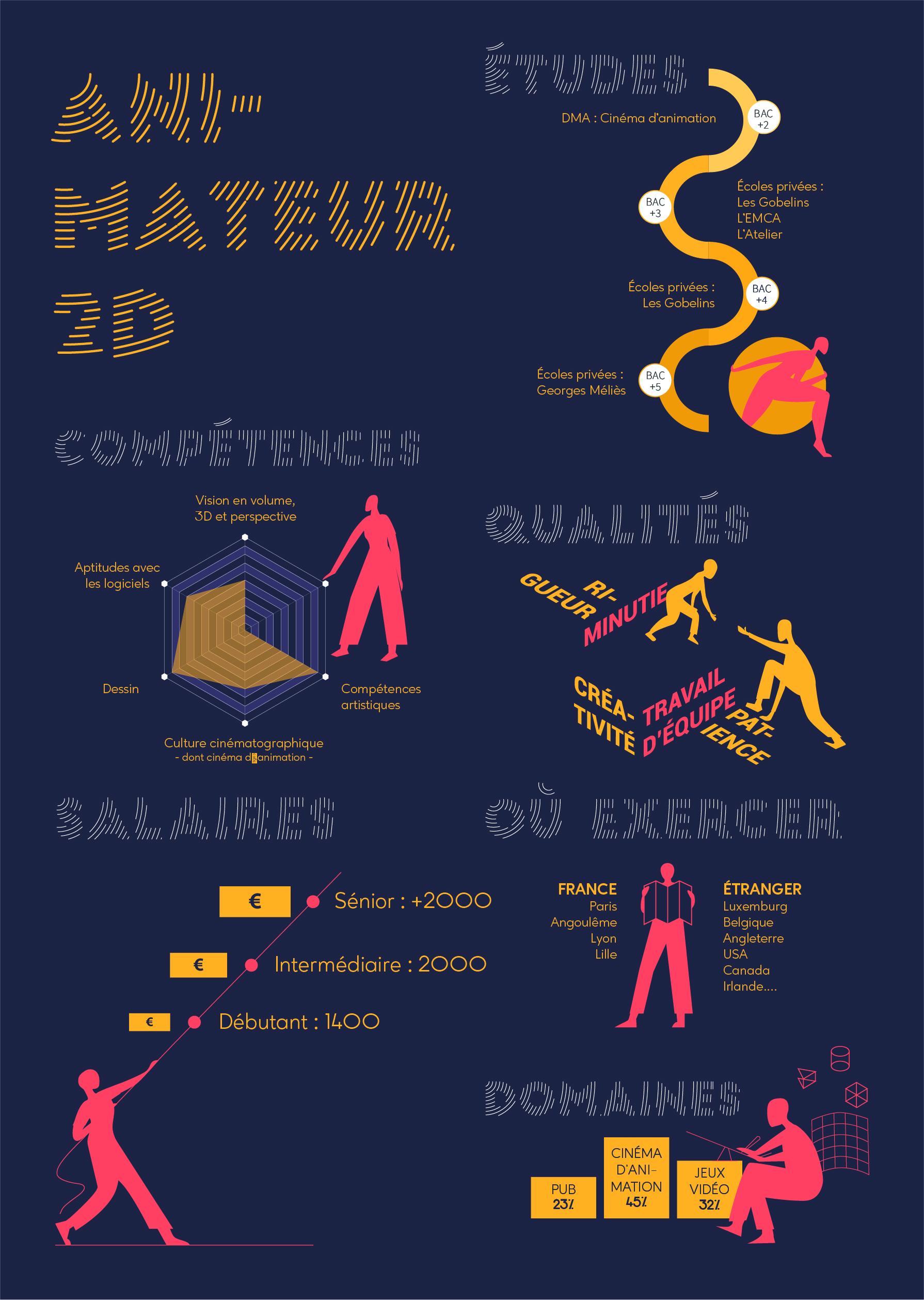 Emilie Leboucq - data visualisation du métier d'animateur 2D
