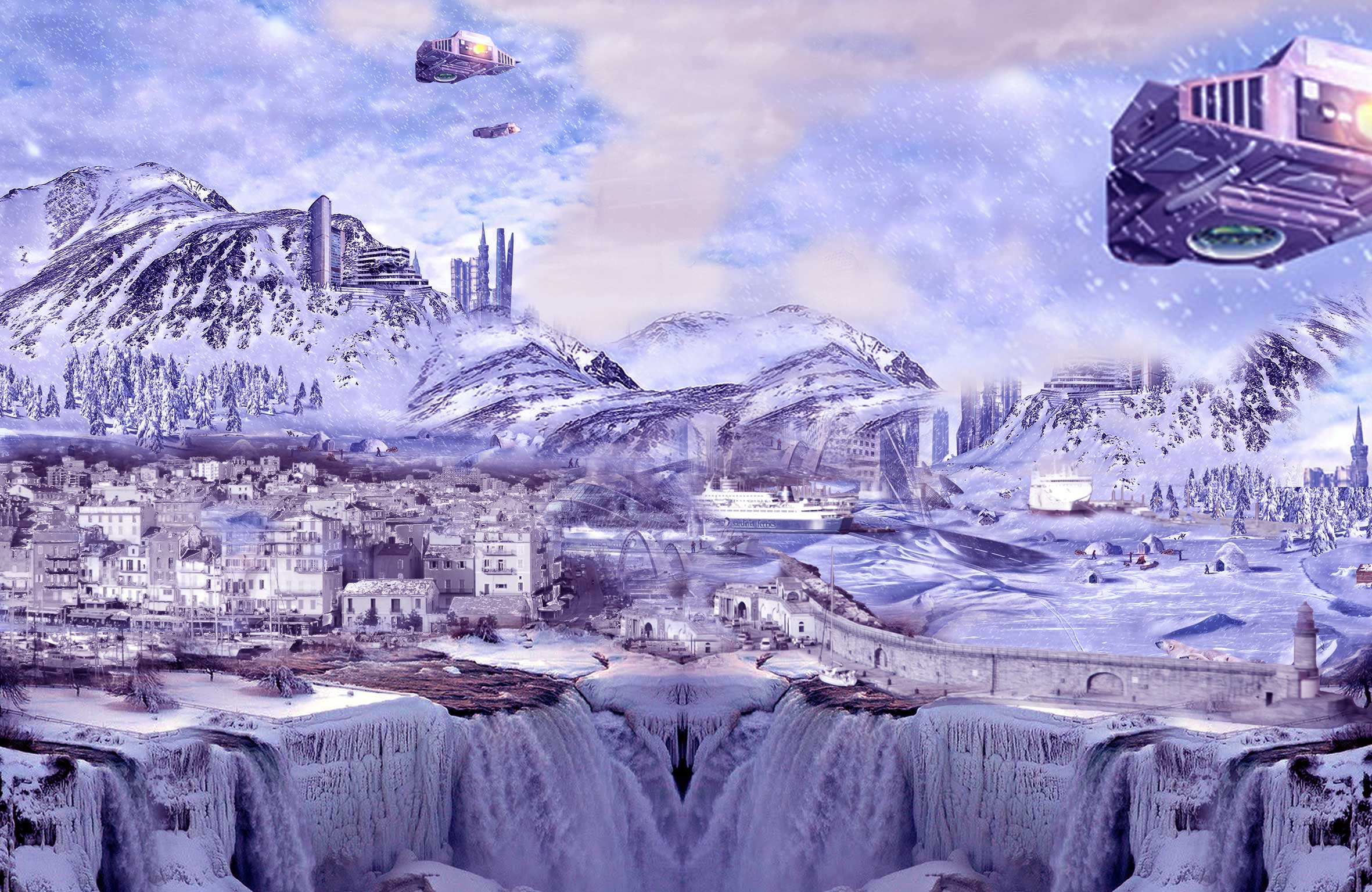 Celia Lopez - Matte painting réalisé sous Photoshop et Illustrator