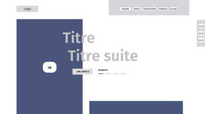 Maxence Henric - Wireframe sous Adobe Xd CC - UX design