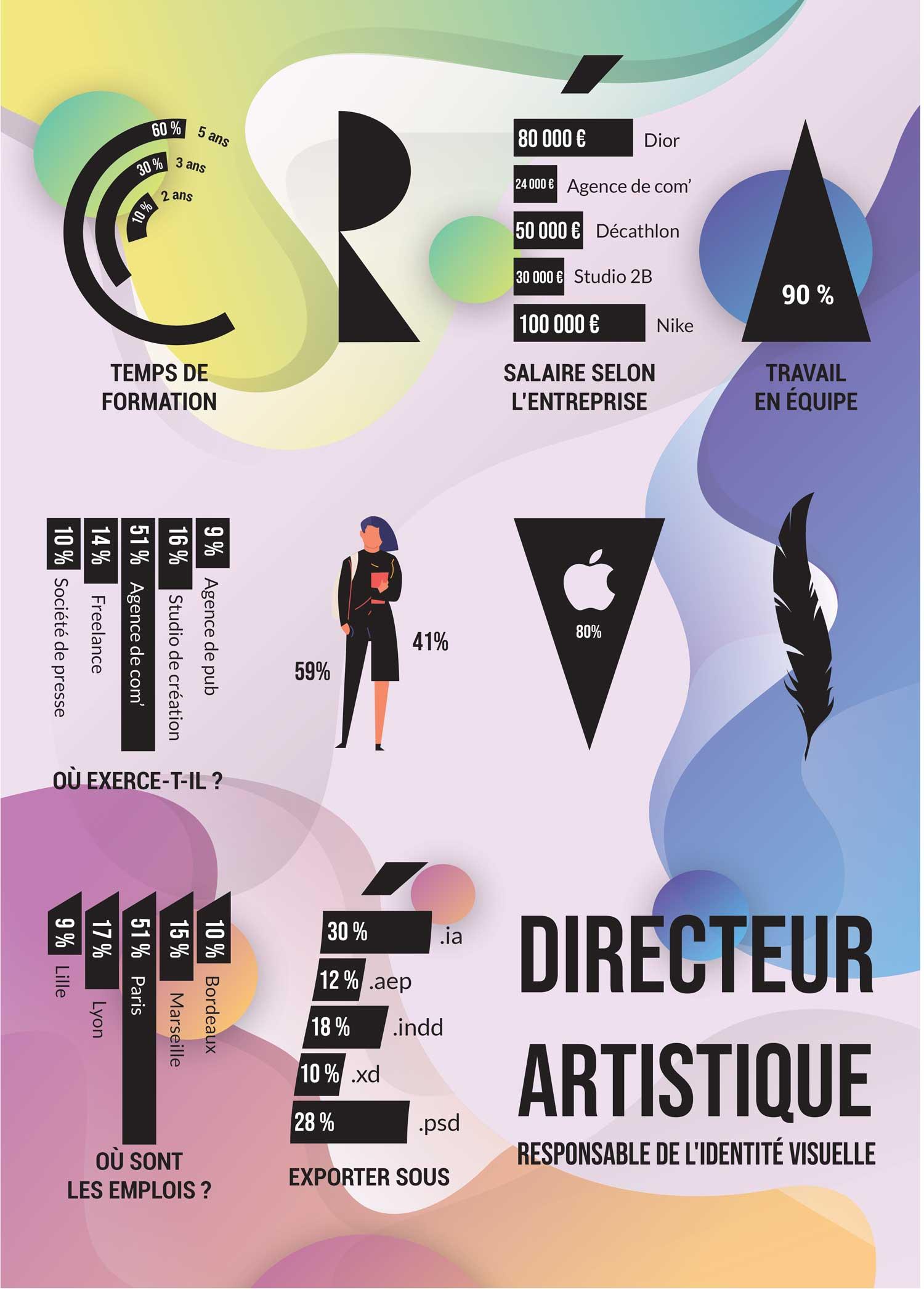Elliot Beaulieu - data visualisation du métier de directeur artistique