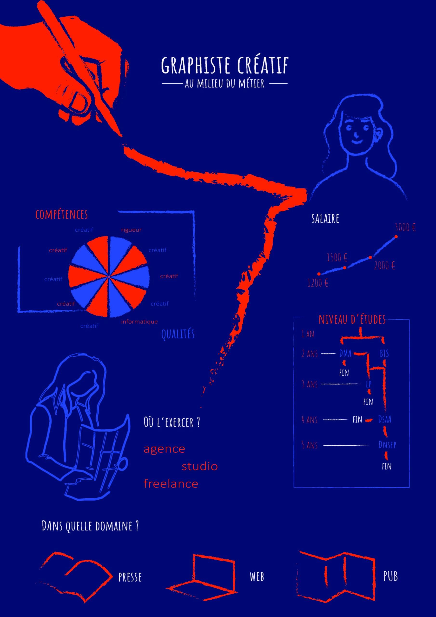 Florie Picano - data visualisation du métier de graphiste créatif